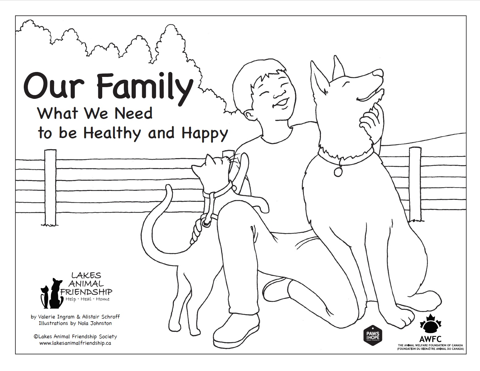 Our Family: What We Need to be Healthy and Happy colouring book