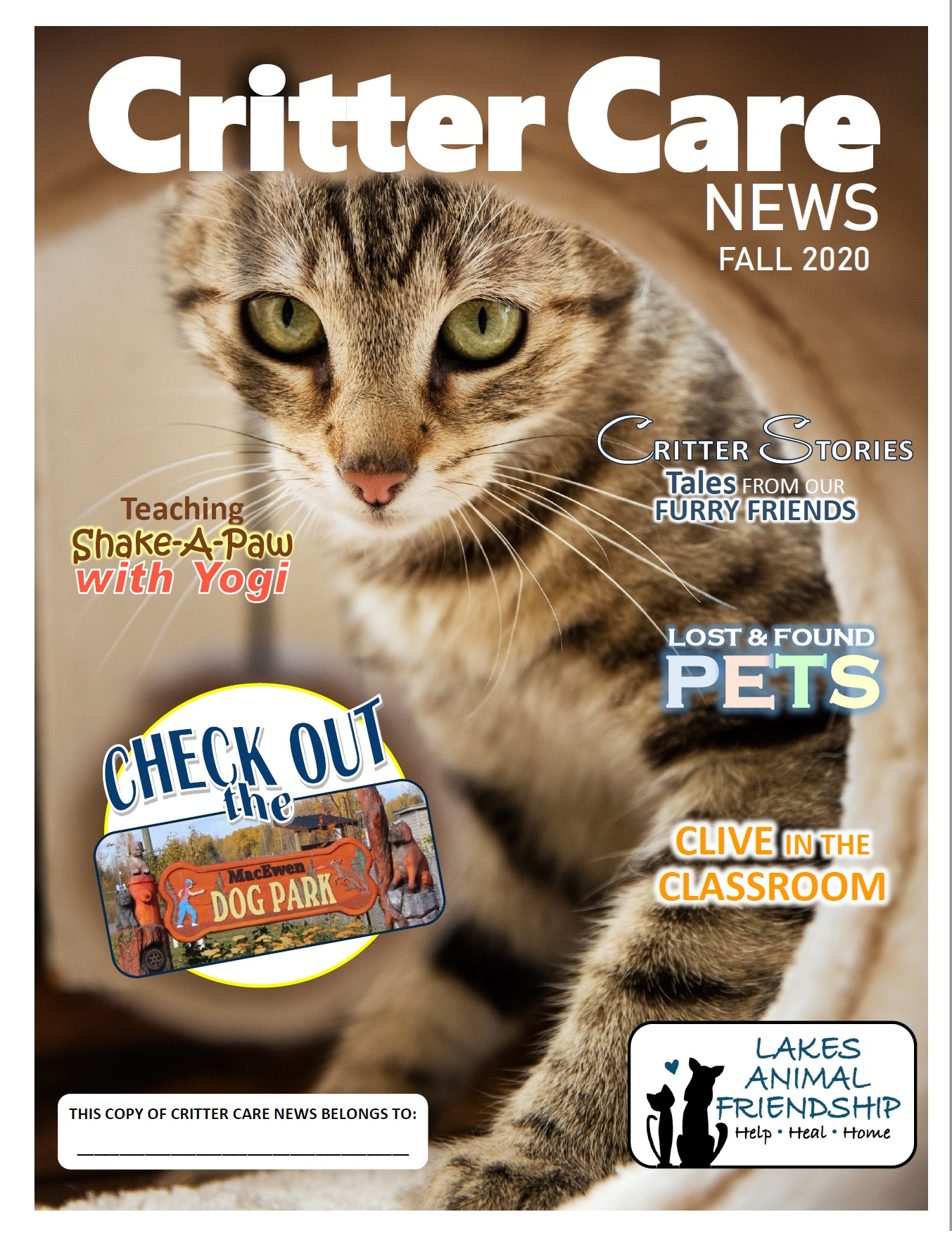 Critter Care News – Fall 2020
